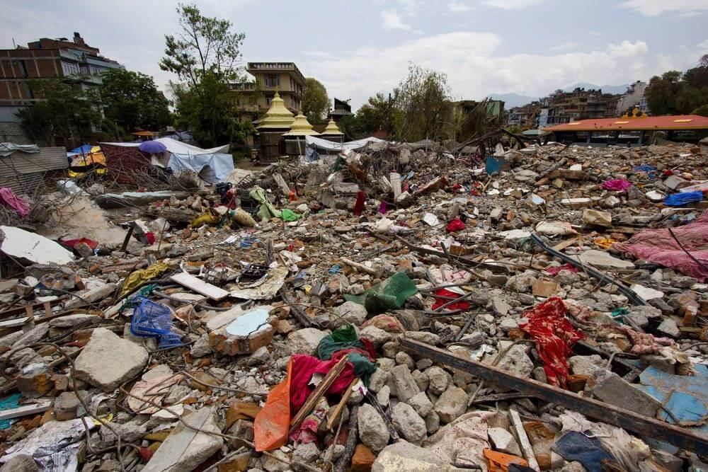 Kathmandu Na de aardbeving