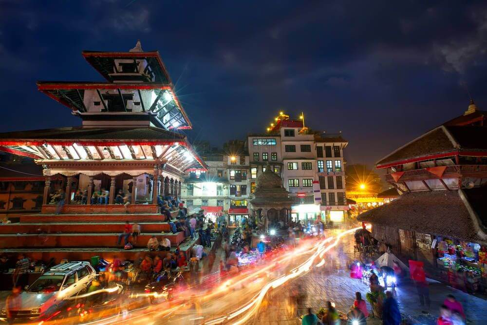 Kathmandu 's avonds