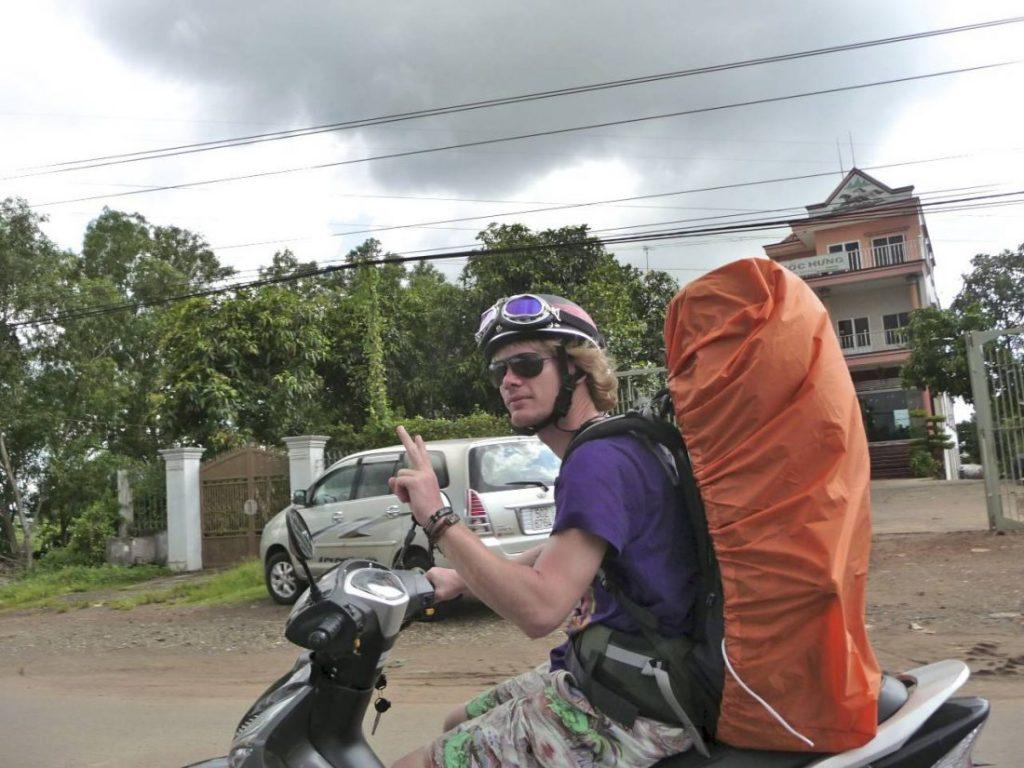 Brommer rijden Vietnam