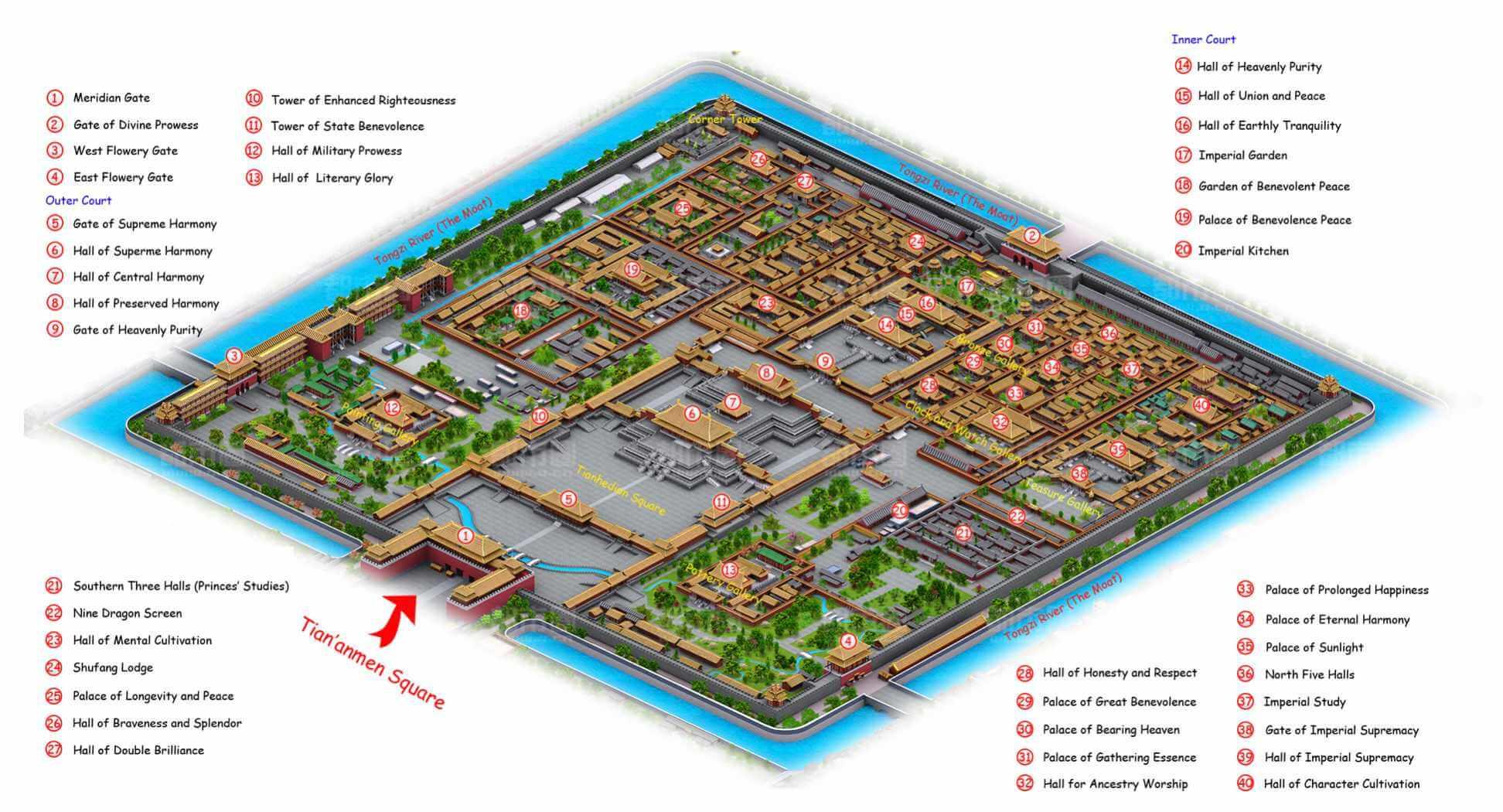 plattegrond Verboden Stad