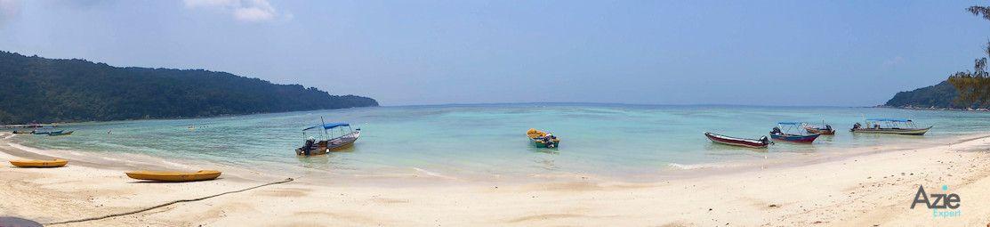 Panarama view van het strand