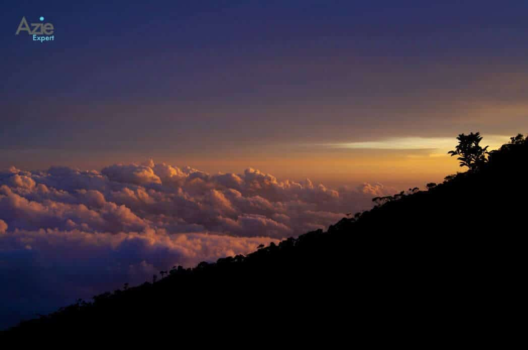 zonsopkomst tijdens de beklimming