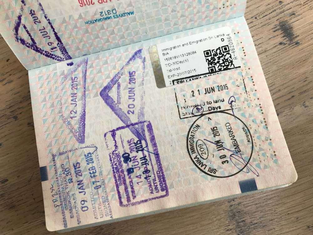 Visum voor Sri Lanka