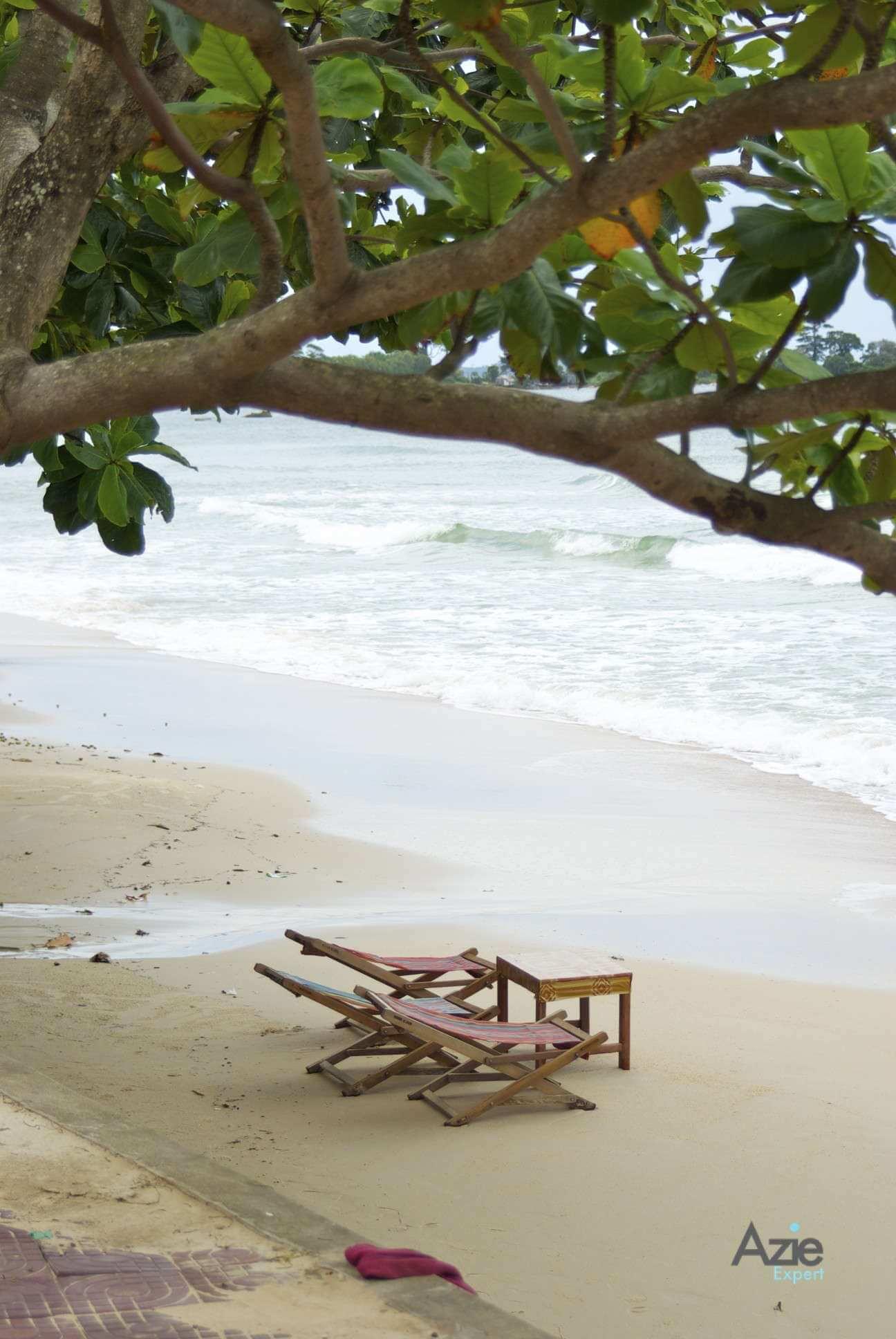 het strand van Sihanoukville