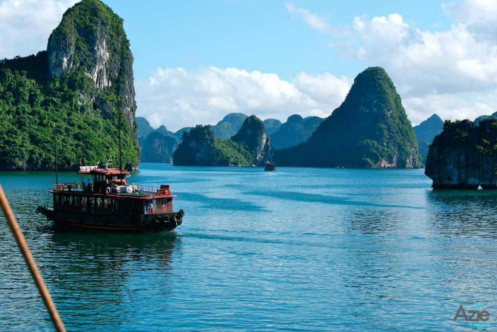 Cruise boot in Vietnam