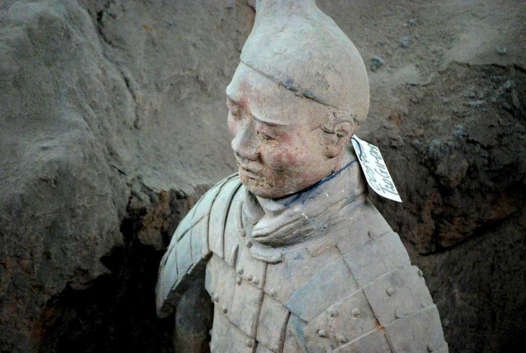 stenen soldaat van het Terracottaleger