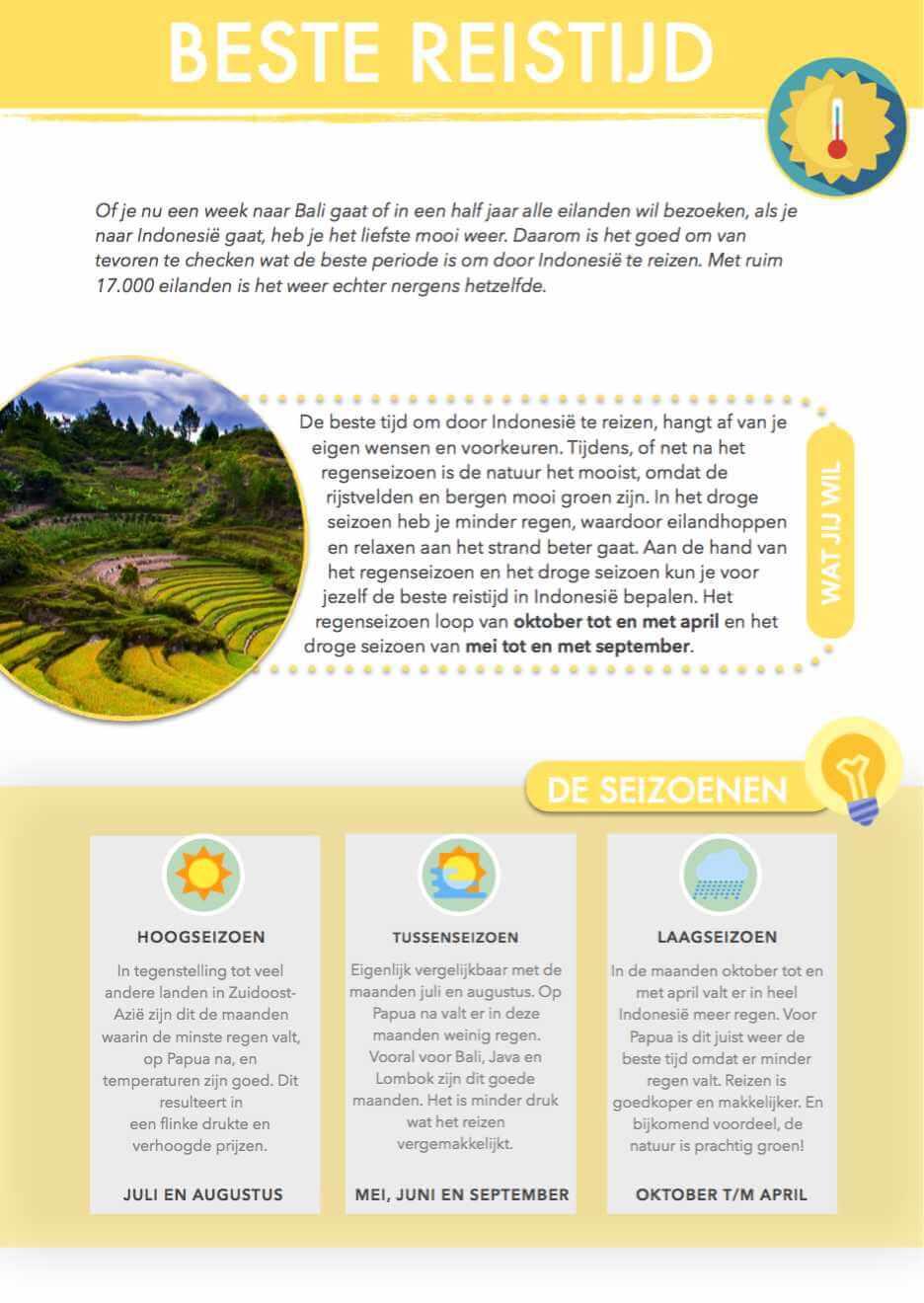 beste reistijd reisgids Indonesie