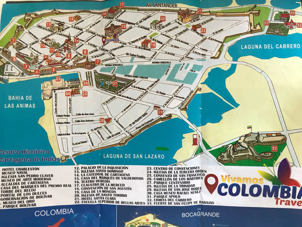 Kaart Cartagena
