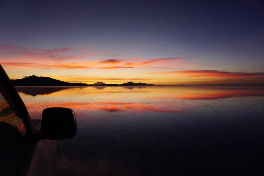 Zonsondergang Bolivia