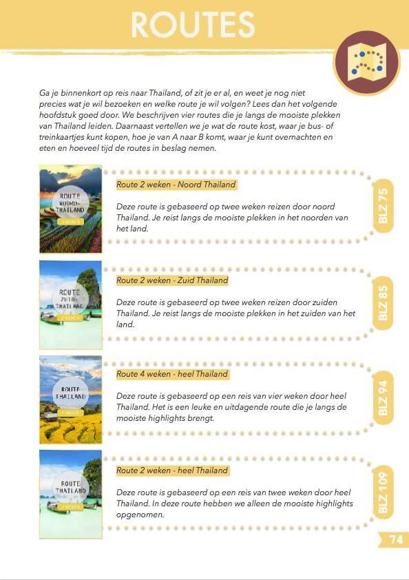 Routes reisgids Thailand