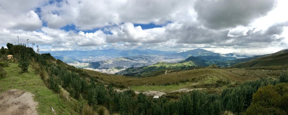 Panarama view over Quito