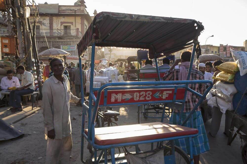 Riksja in Delhi