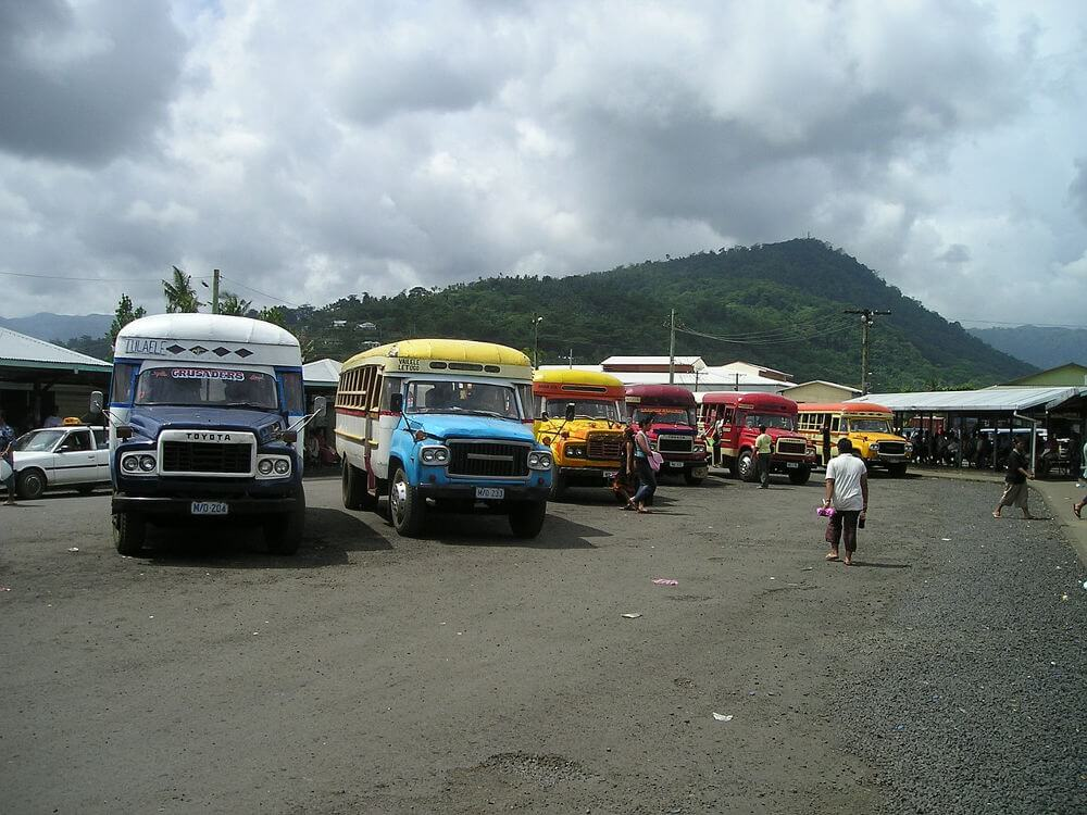 bussen op Samoa