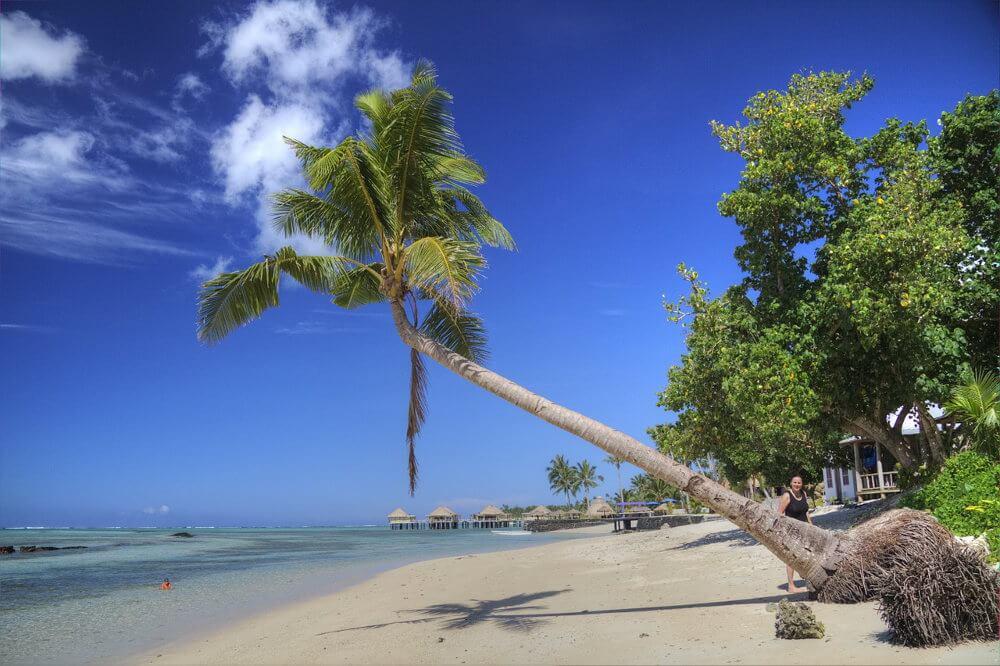 Strand op Samoa