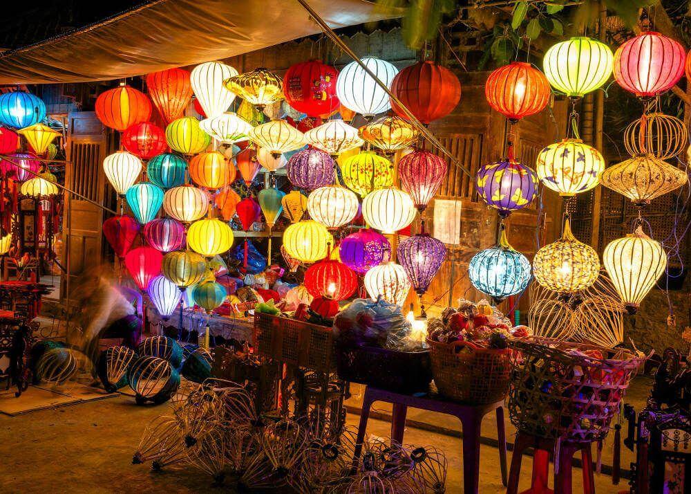 lampionnen op de markt