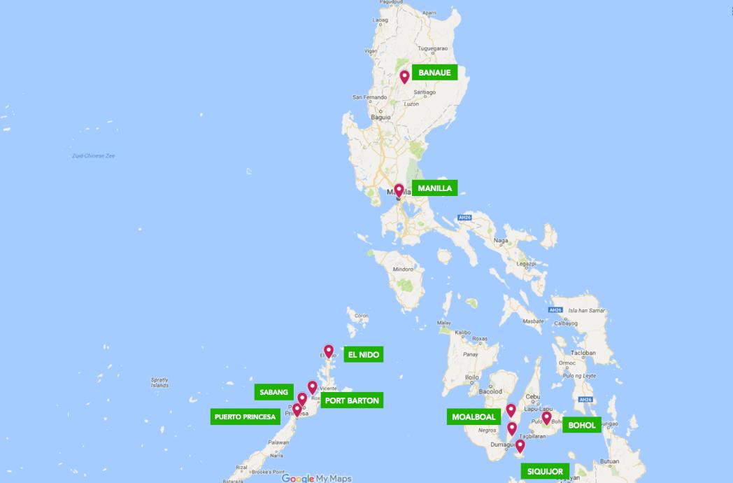 Route Filipijnen