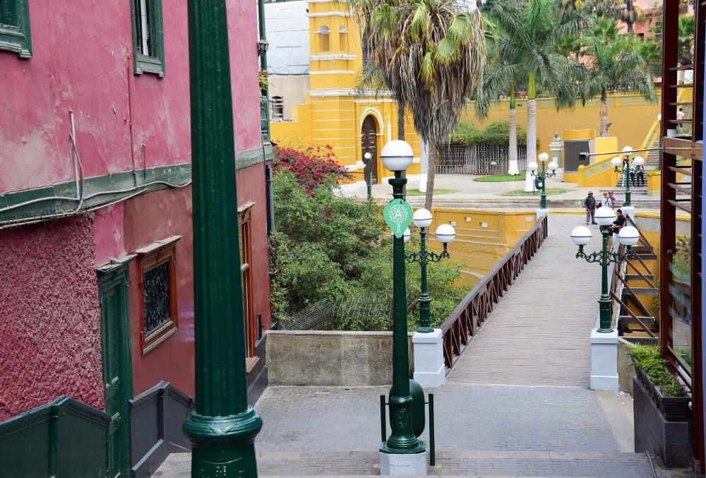 De wijk Barranco in Lima