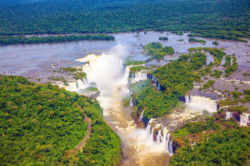 uitzicht op de Iguazu Falls