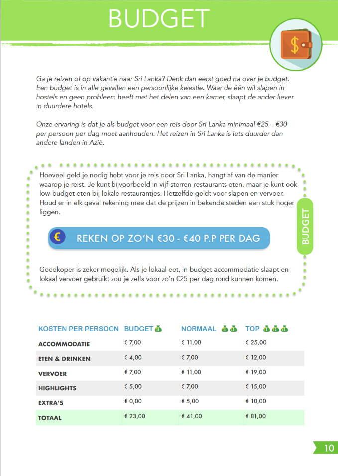 Budget Reisgids Sri lanka