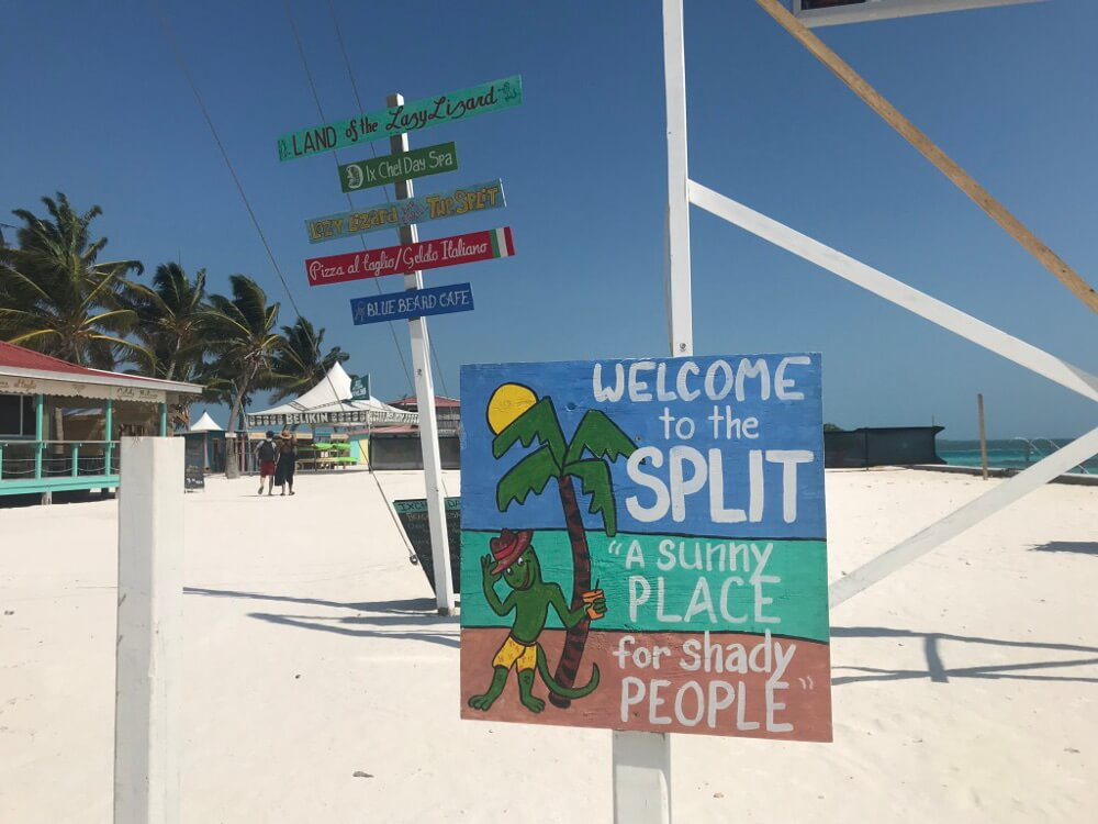 The Split op Caye Caulker