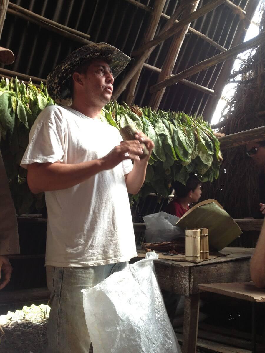 Uitleg tijdens een tour in Valle de Vinales