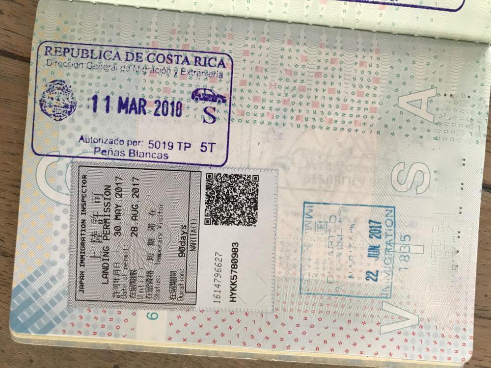 Visum Costa Rica