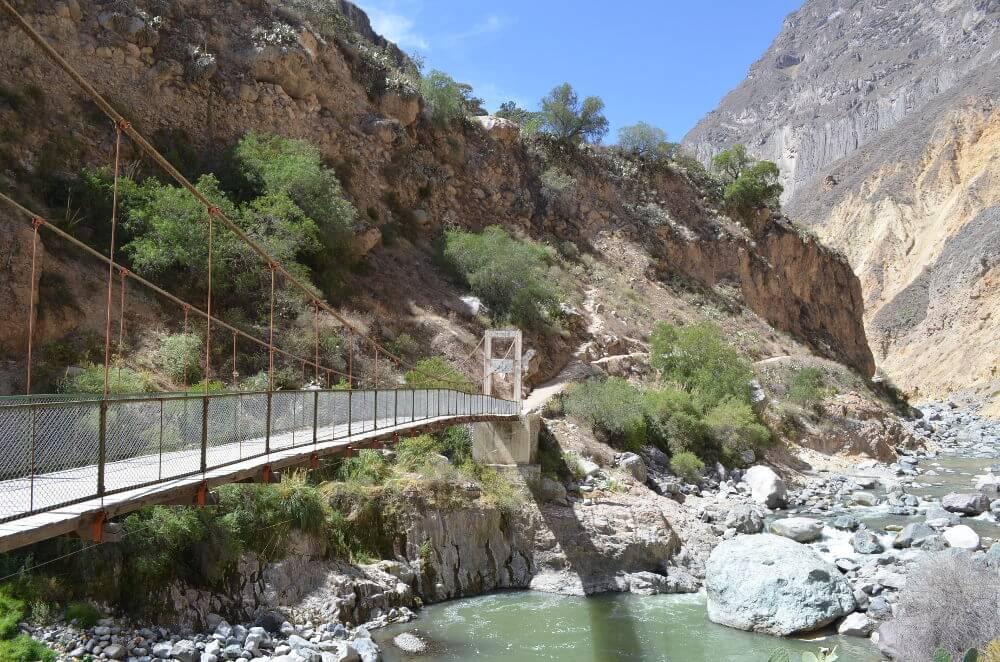 Een deel van de Colca Canyon