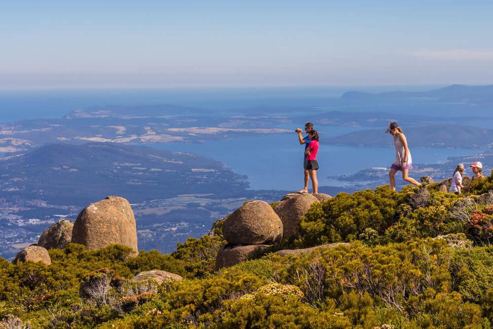 Uitzicht nabij Tasmanië
