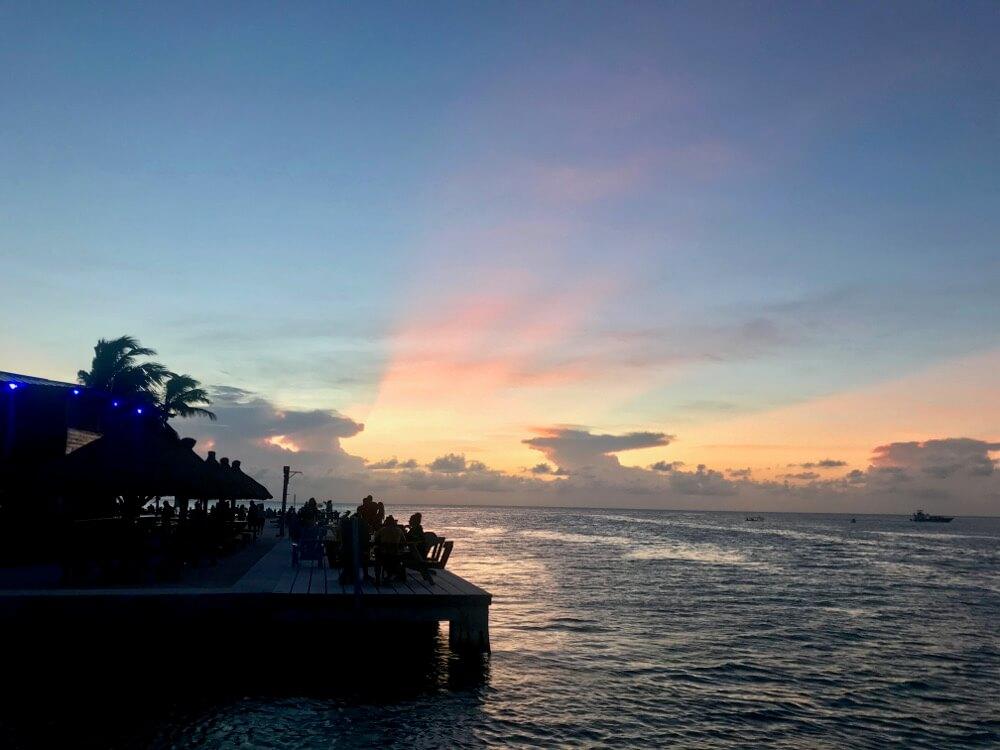 zonsondergang bij The Split