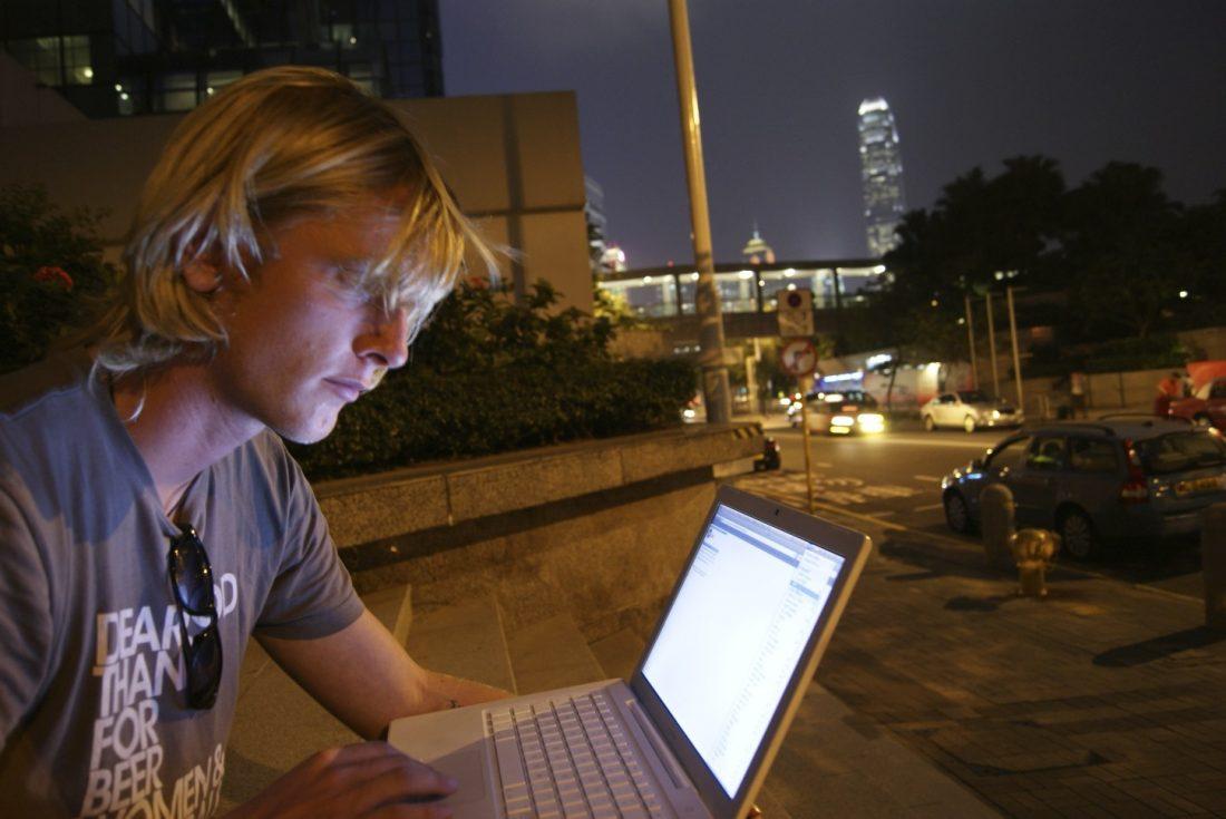 Sjoerd in Hong Kong
