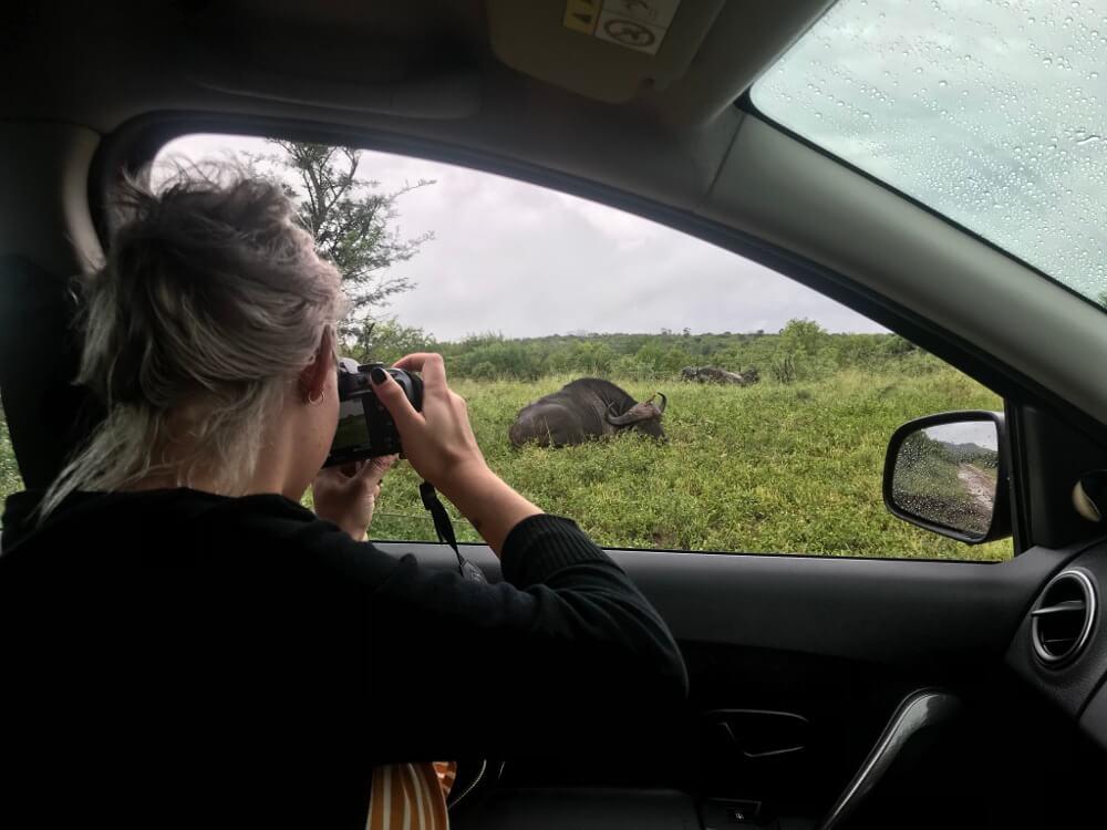 Fotograferen vanuit de auto