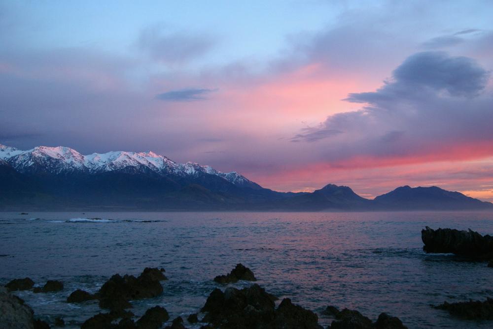zonsopkomst Kaikoura