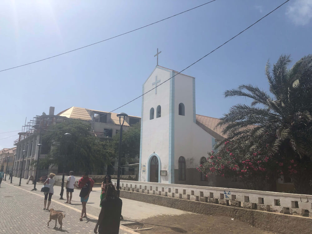 Centrum Santa maria op Sal Kaapverdie