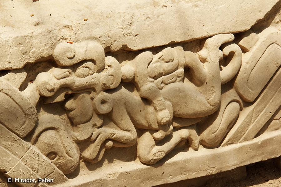 kunst in de El Mirador tempels