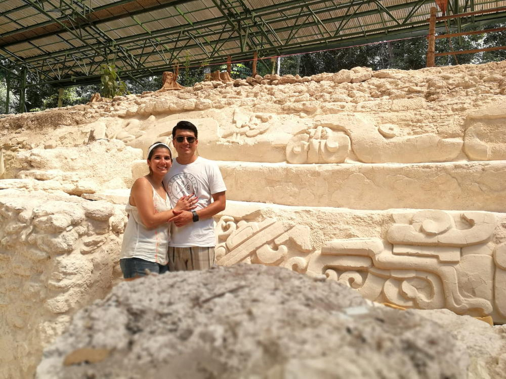 In de tempels
