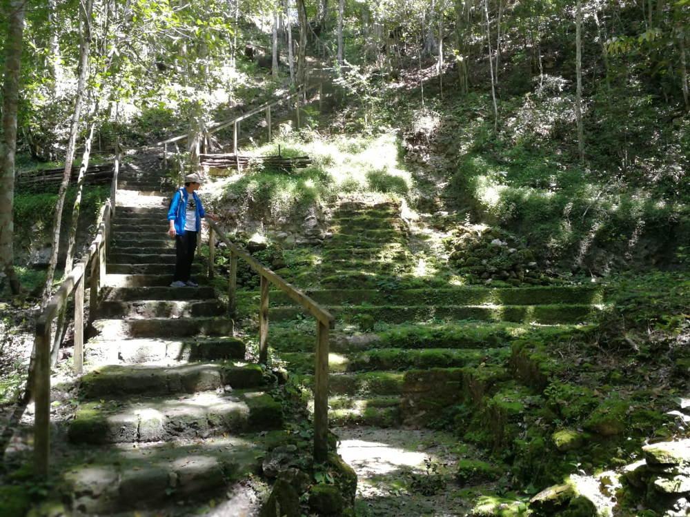 Trappen nabij El Mirador