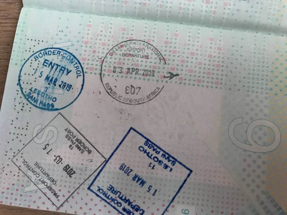 Visum voor Zuid-Afrika