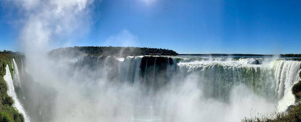 Iguazu watervallen panorama