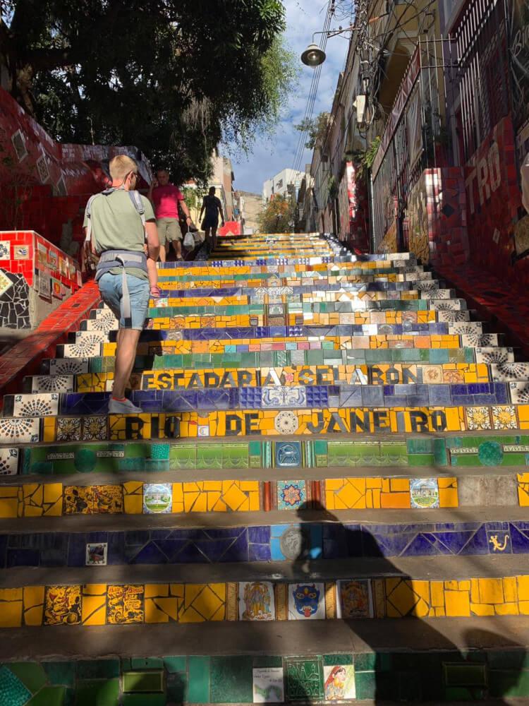trappen (Escadaria Selarón) Santa Teresa