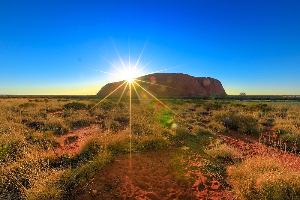 Uluru Zonsondergang