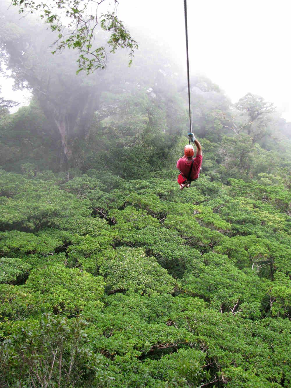 Monteverde zip line Guanacaste Costa Rica