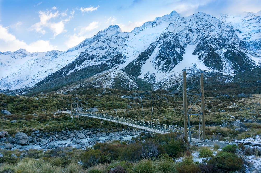 Hiking hooker valley Nieuw-Zeeland
