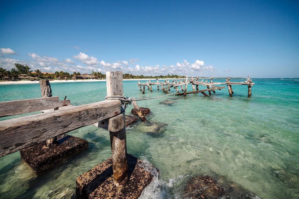 mooiste-Xpu Ha strand van Mexico