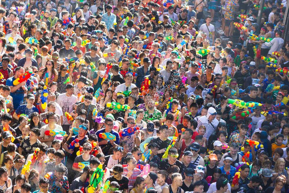 Songkran Bangkok-Thailand