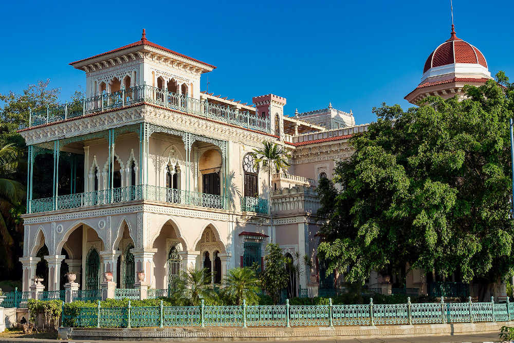 The Palacio-De-Valle-In-Punta Cienfuegos Cuba.
