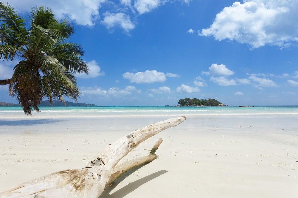 beach Anse-Volbert-Paslin Seychelles.