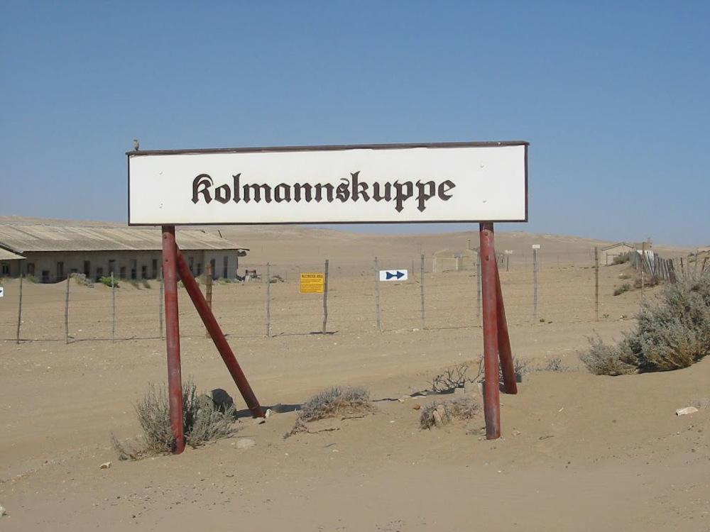 sign Kolmanskop Namibie