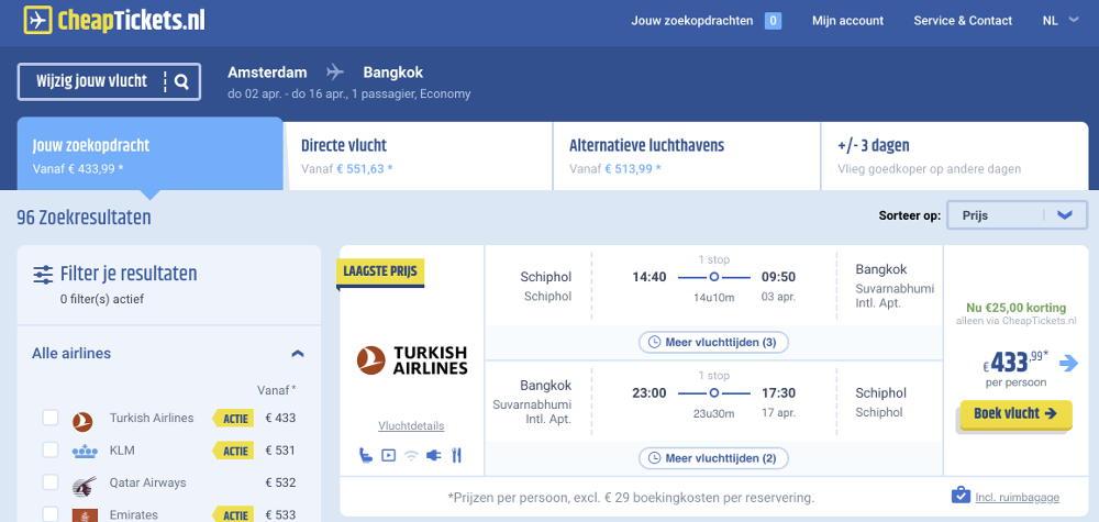 Vliegtickets Bangkok