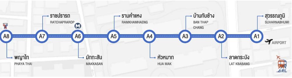 Bangkok Airport naar Khao San Raod