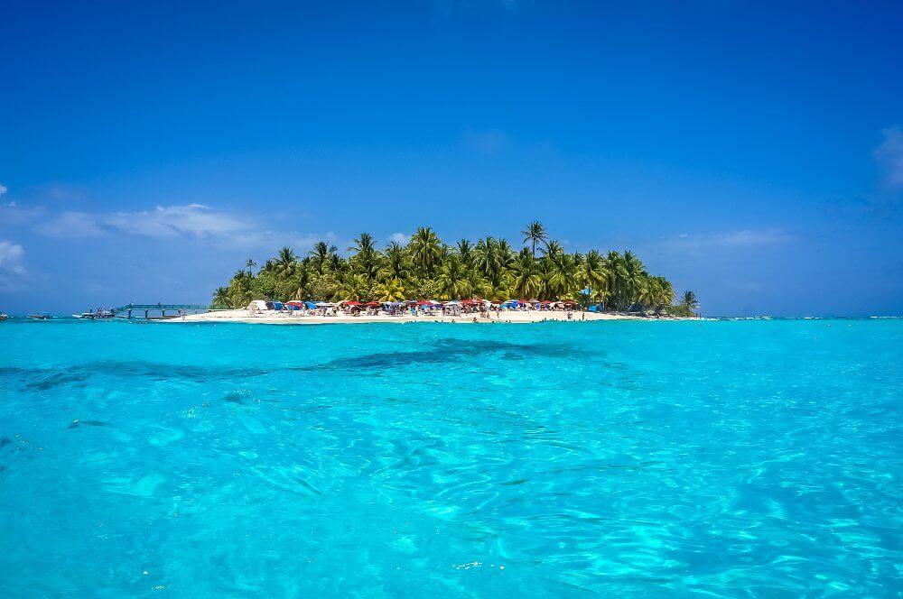 Johnny Cay eiland in de buurt van San Andres